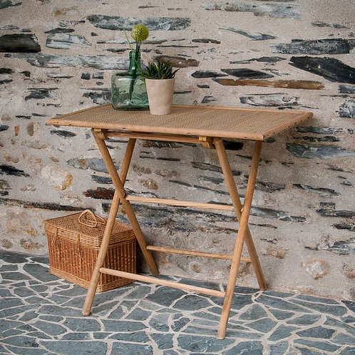 TABLE D'APPOINT PLIANTE EN BOIS NATUREL