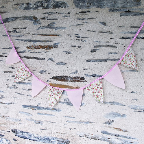 Guirlande de fanions chambre enfant - Gris Groseille boutique déco vintage Angers
