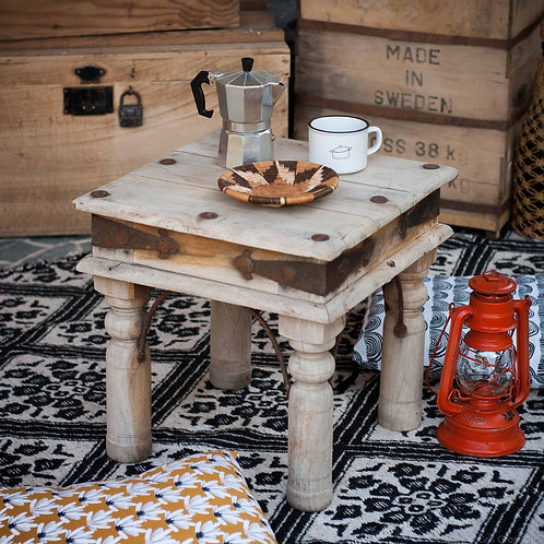 table basse indienne - Gris Groseille boutique artisanat ethnique