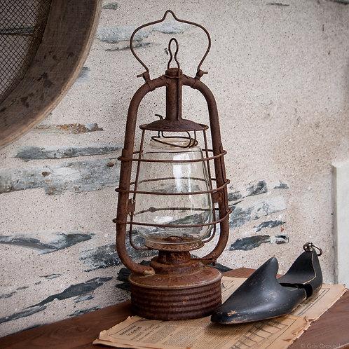 LAMPE TEMPÊTE ANCIENNE PATINÉE