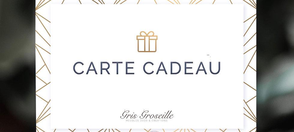 CARTE CADEAU GRIS GROSEILLE