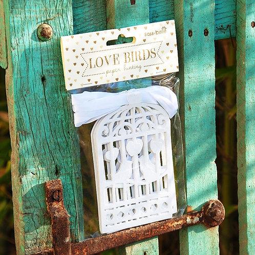 Guirlande love birds sass & belle deco wedding Gris Groseille boutique en ligne décoration mariage angers maine et loire 49