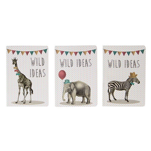 Notebook party animals Sass Belle Gris Groseille boutique en ligne papeterie vintage Nantes Loire Atlantique 49