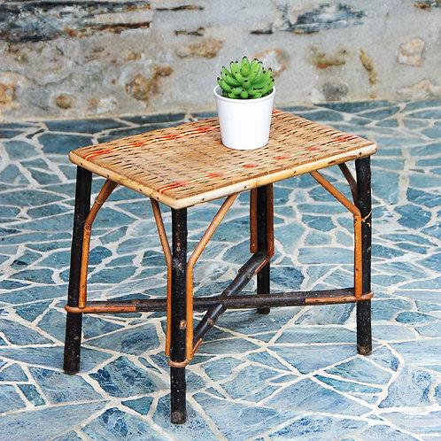 Petite table tressé vintage - Gris Groseille déco brocante Angers 49
