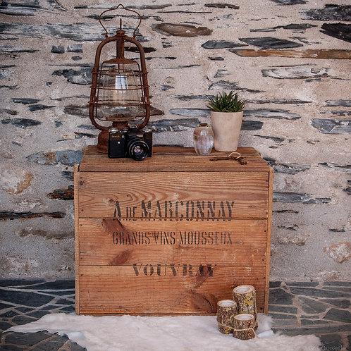 ANCIENNE CAISSE À VIN - DE MARCONNAY - GRANDS VINS MOUSSEUX VOUVRAY