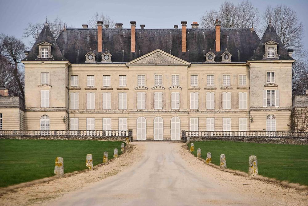 façade du Chateau de Montgeoffroy, à Mazé-Milon en Maine-et-Loire (49), France