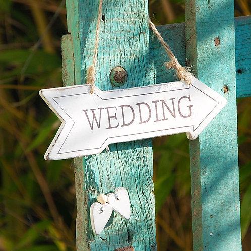 Fleche décorative blanche wedding Gris Groseille boutique en ligne déco mariage angers maine et loire