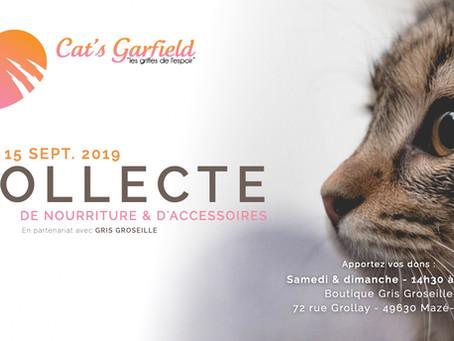 14-15 Septembre : Collecte au profit de l'association Cat's Garfield