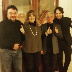 with Ramon Vargas, Caterina Caselli and Celso Valli