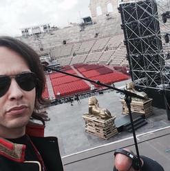 on stage (Arena di Verona)