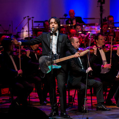 on stage (Cadogan Hall in London)