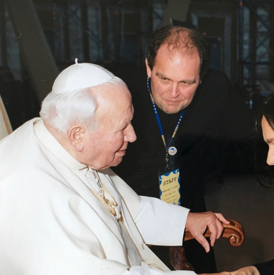 with Pope Wojtyla