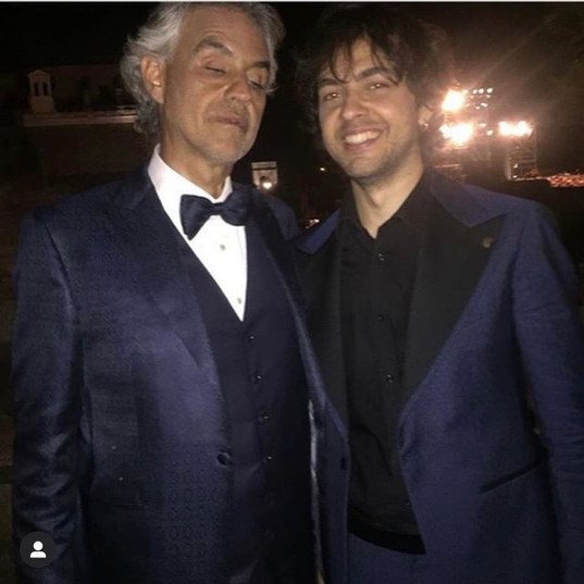 backstage with Andrea Bocelli