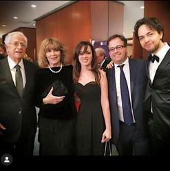 with Adolfo Vannucci, Caterina Caselli, Valentina Paciotti and Giovanni Arcadu (New York)