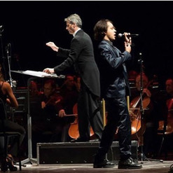 on stage with Steven Mercurio