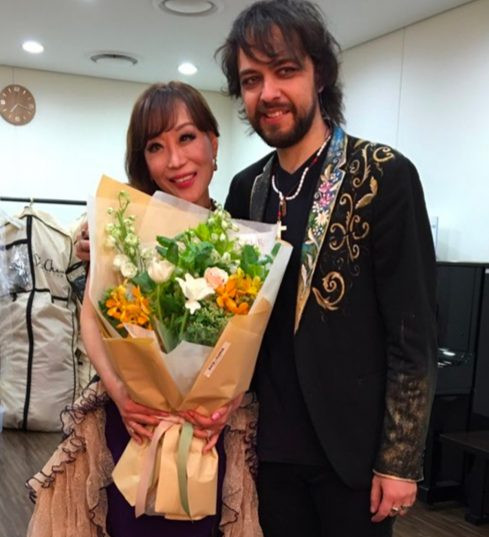 backstage with Sumi Jo