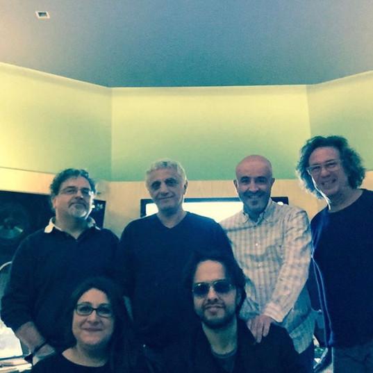 reccording studio with Giordano Mazzi, Celso Valli, Marco Borsatti, Francesco Sartori and Valentina Policci