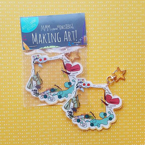 """Making Art"" Acrylic Charm Keychain"