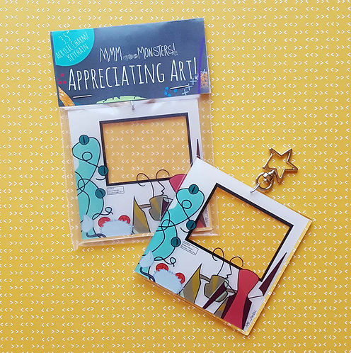 """Appreciating Art"" Acrylic Charm Keychain"