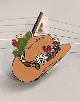 The Gatherer - Cowboy Hat Enamel Pin