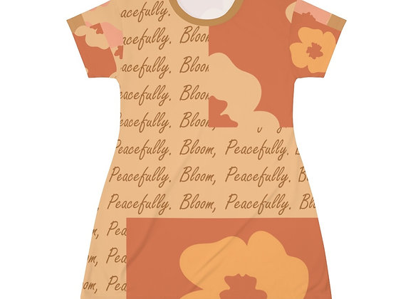Just Keep Blooming T-shirt Dress