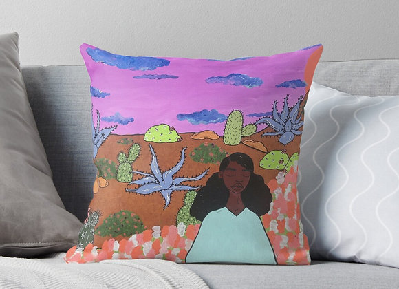 """Prickly Road to Peace #4"" Throw Pillow"