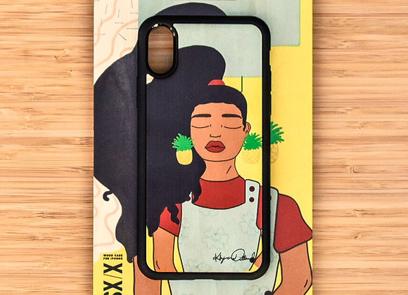 """Choose Peace Instead"" Wooden iPhone Case"
