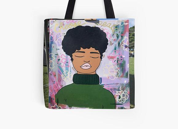 """""""Peace Will Shine"""" Tote Bag"""