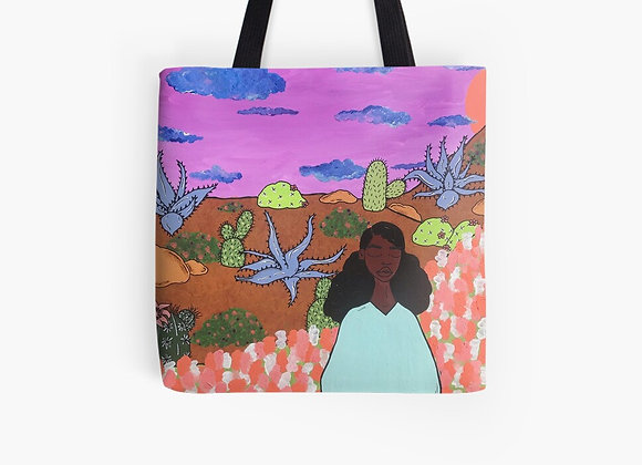 """""""Prickly Road to Peace"""" Tote Bag"""