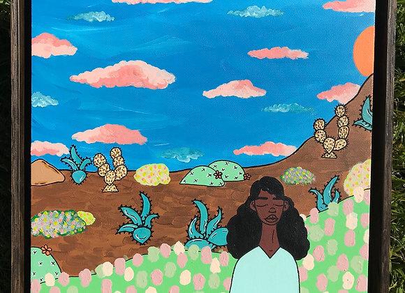 """Prickly Road to Peace #7"" Original"