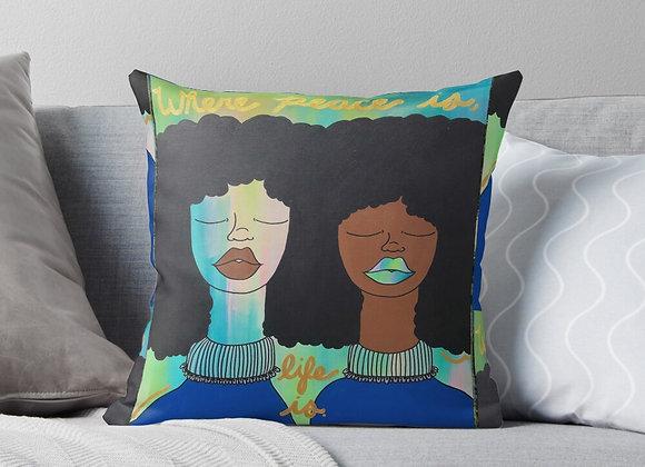 """Black Peace Matters"" Throw Pillow"