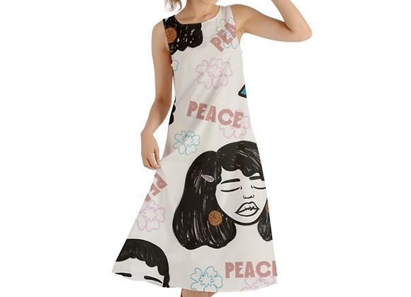 """Apparent Peace"" Fall Maxi Dress"