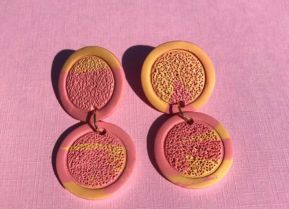 Textured Drop Stud Earrings