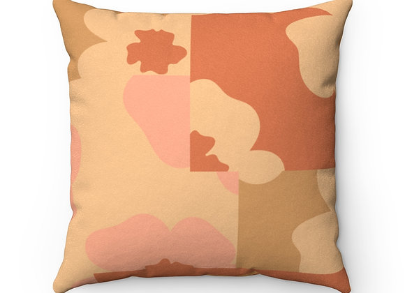 Faux Suede Square Pillow | FLORAL