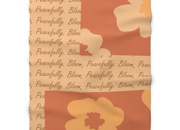 Blooming Sherpa Throw Blanket