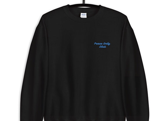 """""""Peace Only Club"""" Sweater / Blue"""