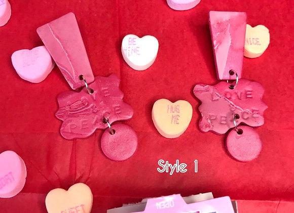 """""""Love & Peace"""" Earrings"""