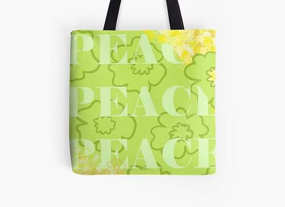 """Spring into Peace"" Tote Bag"