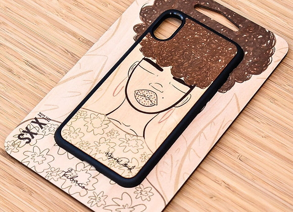 """May You Have Peace"" Wooden iPhone Case"