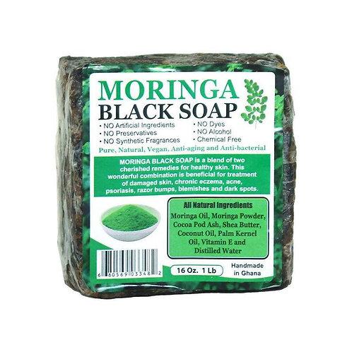 Moringa Black Soap + Shungite Stone