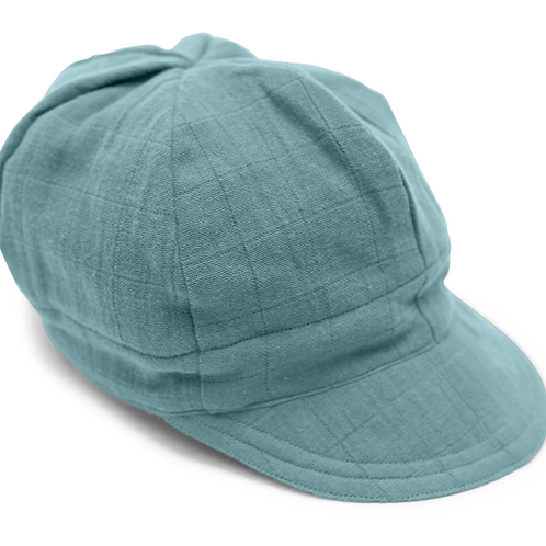 Ocean Blue Newsboy Cap