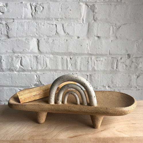 Rainbow Ritual Dish - natural and white