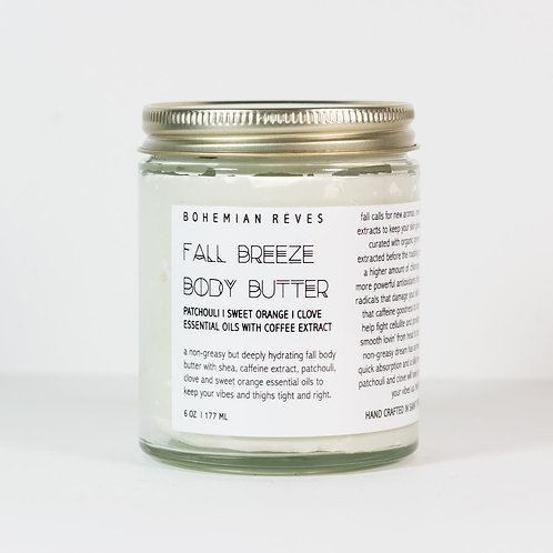 Patchouli Sweet Orange Clove Body Butter with Coffee Extract
