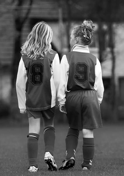 Priscilla doet aan meisjesvoetbal