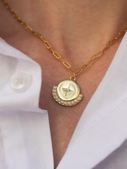 Elaina Pearl Necklace