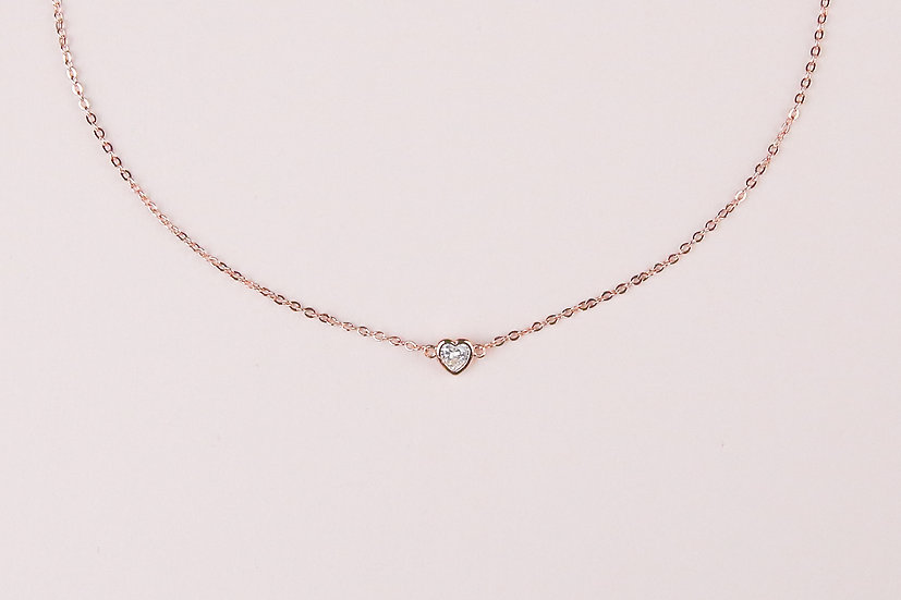 Allaire Love Necklace in Rose Gold
