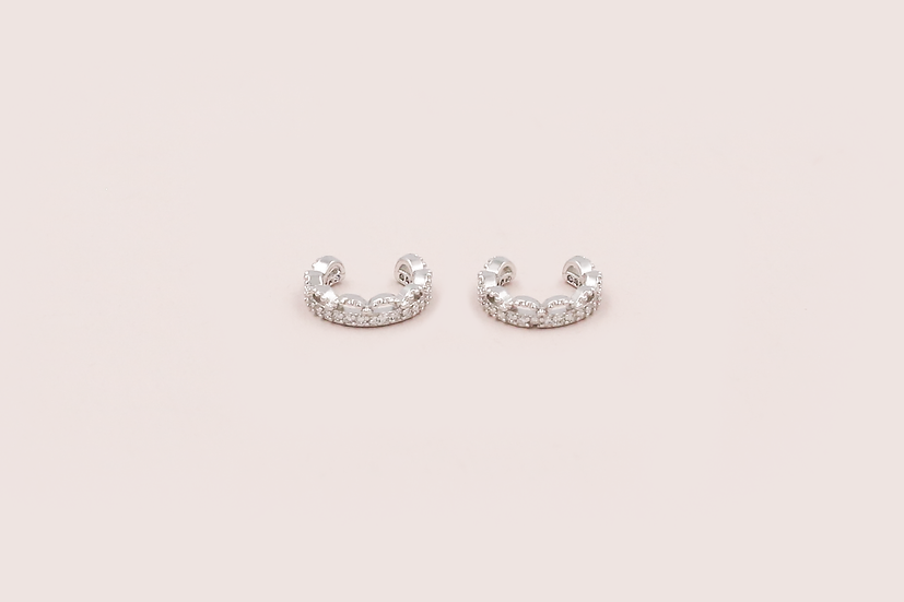 Zanne Ear Cuffs in Silver