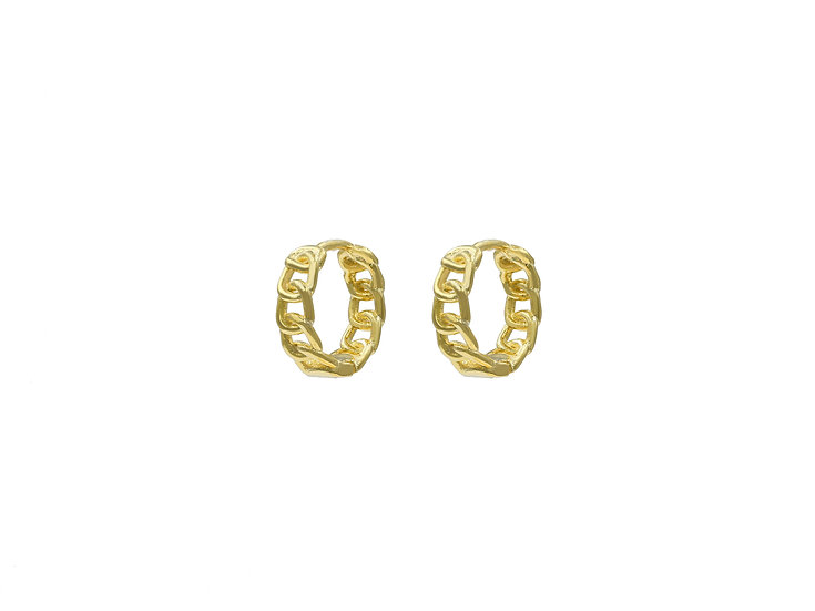 Vena Chain Hoops in Gold