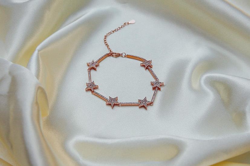 Remy Stars Bracelet in Rose Gold