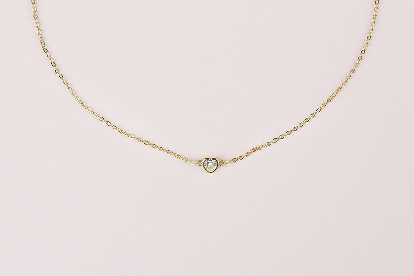 Allaire Love Necklace in Gold